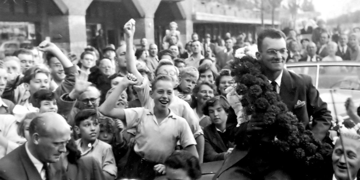 A.S.C. Olympia - Piet van Heusden: 'Het zag zwart van de mensen ...'