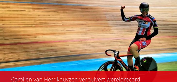 Carolien van Herrikhuyzen verpulvert wereldrecord