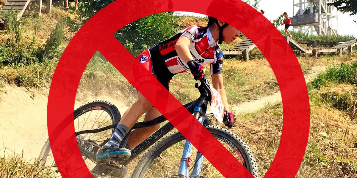 ASC Olympia - Evenement training mountainbiken afgelast