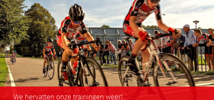 We hervatten onze trainingen weer!